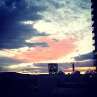Sunset in Zurich.