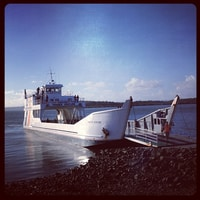 our ferry to Fraser Island