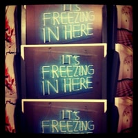 it's freezing outside