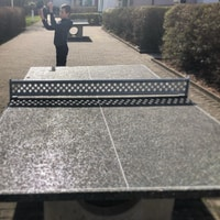 Playing pingpong outside in February