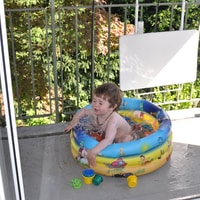 The first bath of the year on the balcony #summerishere