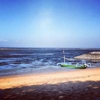 at the beach in Sanur
