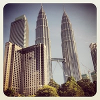 Petronas Twin Towers. early in the morning for the queue.