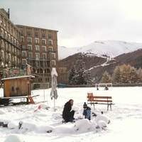 snowy engadin