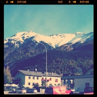 sunny snowy alps