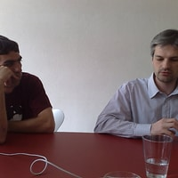 @fabpot talking about symfony2 @liip (plus lukas)