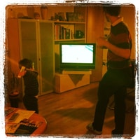 playing the wii