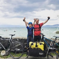 We did it! The whole 180km to lac leman \o/ #roadtrip2020 #🚲🏕