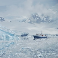 another boat in the antarctic sea